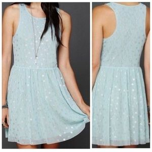 FREE PEOPLE reversible lace polka dot skater dress